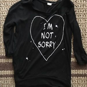 I'm not sorry shirt GARAGE